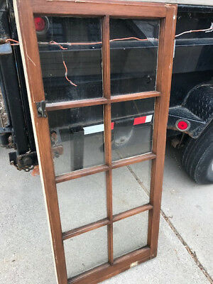 VINTAGE ANTIQUE WOOD WINDOW SASH / FRAME Painted and Natural Wood Finish
