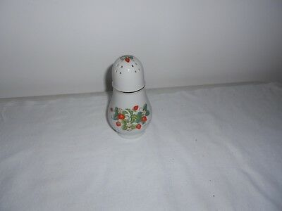 VINTAGE AVON Strawberry Porcelain Salt Pepper Sugar Shaker 22k Gold Trim 1978