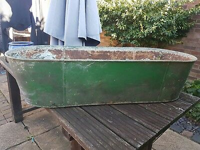 Tin Bath Vintage 48 inches Long 18.5 inches wide 11.5 inches high SeePictures