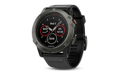 (One Size) - Garmin fenix® 5X Sapphire Multi-Sport GPS Watch. Brand New