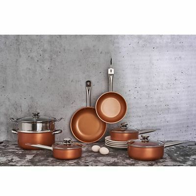 Luxury 7 Piece Pan Set Copper Induction Nonstick Cookware Skillet Steamer Sauce