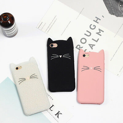 New 2D Beard Cat Hot Soft Silicon Case Cover For Huawei P8 P9 P10 P20 Lite Honor