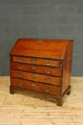 Antique George III Early 19th Century Oak Bureau