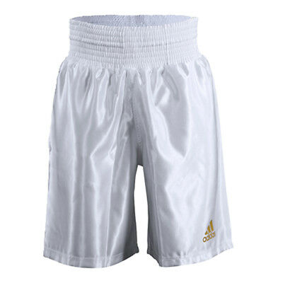 Adidas 18 Satin Boxing Shorts - White/Gold