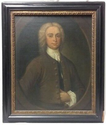 Oil on Canvas Portrait Painting of a Young Georgian Gentleman Circa 1800
