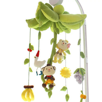 UK Rotary Baby Kids Crib Mobile Bed Bell Toy Wind-up Music Box DIY Hanging Gidt