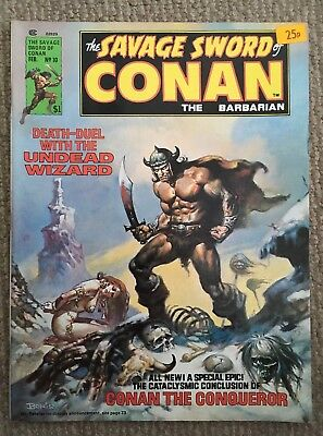The Savage Sword Of Conan The Barbarian Feb 1976 Vol 1 No 10 Good Condition.