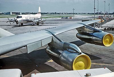 """Continental Airlines Vickers VISCOUNT II ((8.5""""x11"""")) Print"""