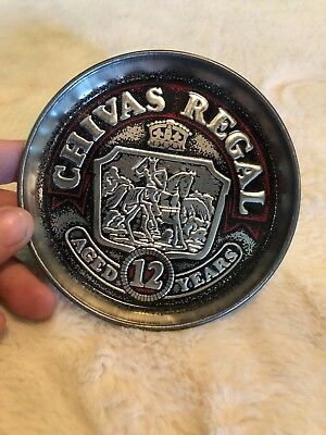 Vintage Metal Chivas Regal Aged 12 Years Ashtray