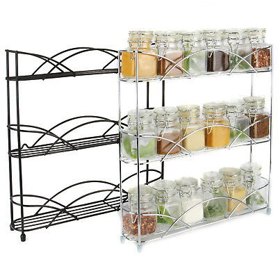 Free Standing 3 Tier Herb & Spice Rack | Non-slip Universal Fit | M&W