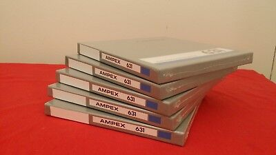 "Brand New Sealed Box of 40 AMPEX 631 7/"" Reel to Reel Tape Tapes 1//4/"" Deck-USA"