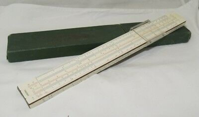 Vtg A.W. Faber-Castell 1/54 Darmstadt Slide Rule made in Germany w/Case