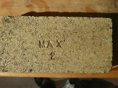 ANTIQUE FIRE BRICK STAMPED 'MAX 2' Two Inch Thick
