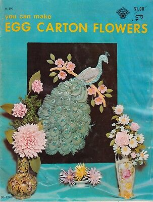 You Can Make Egg Carton Flowers vintage 1971 craft pattern book