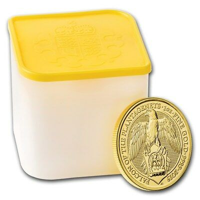 SPECIAL PRICE! BANK WIRE! 2019 GB 1 oz Gold Queen's Beasts Falcon (Lot of 10)