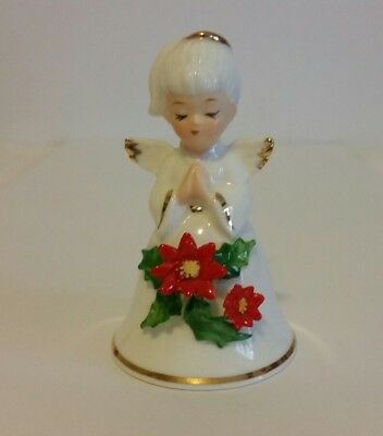 Vintage NAPCOWARE Bone China Christmas Angel Bell 3""