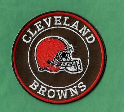 "New Cleveland Browns 'Helmet'  4 "" Iron on Patch Free Shipping"