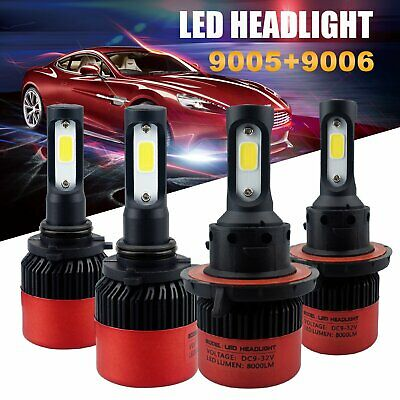 9005 9006 Hi-Lo Beam Combo Bulbs LED Headlight Kit for Chevrolet Toyota Buick