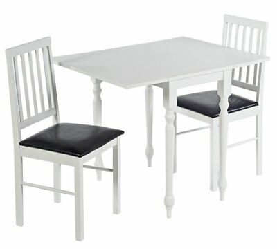 Prime Argos Home Orton Spindle Drop Leaf Table 2 Chairs White Cjindustries Chair Design For Home Cjindustriesco
