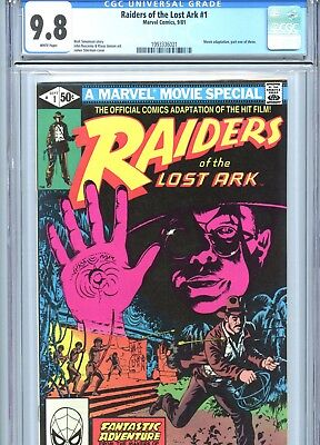 Raiders of the Lost Ark #1 CGC 9.8 White Pages Movie Adaptation Marvel 1981