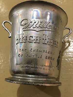 Vintage Miller High Life Trophy Cup Toothpick Holder