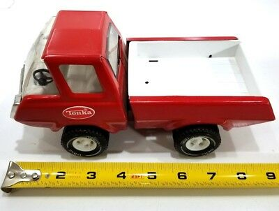 "VTG 1970s Tonka Pick Up Truck Pressed Steel Metal Small 8.5""  Red  USA Very Good"