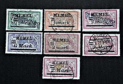 Germany Lithuania Memel  1921-1922 Collection of Used stamps inc Air Mails