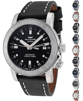 Glycine Airman GMT/Purist Automatic 42mm-44mm-46mm Watch - Choice of Size/Color
