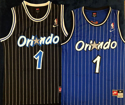 6b9b5934f Penny Hardaway Orlando Magic Men s Stitched Throwback Swingman Black Blue  Jersey