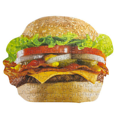 Burger Shaped Jigsaw Puzzle Fast Food In Gift Box Birthday Christmas Gift