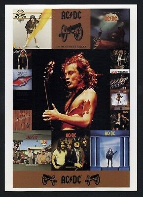 6x AC/DC Discography - Postcard (Lot of 6 Postcards)