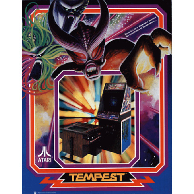 Tempest Multigame Free Play and High Score Save Kit Arcade