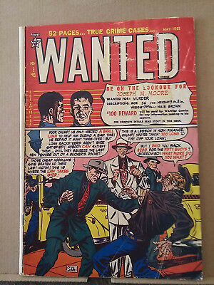 WANTED COMICS #37 syd shores cover RD1648
