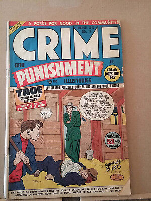 CRIME AND PUNISHMENT #12 charles biro cover RD1031