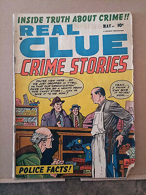 REAL CLUE CRIME STORIES v.6 #3 comic book RD1074