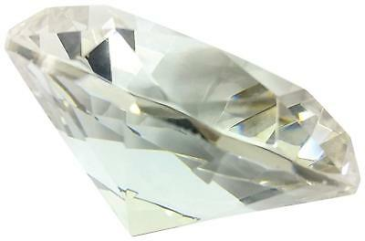 Hongville Fancy 80mm Crystal Glass Diamond Paperweight Multi Color