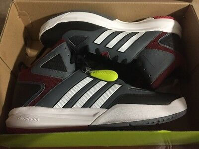 buy online 58427 86eec New Mens Adidas Cloudfoam Thunder Mid Basketball Shoe Size 13
