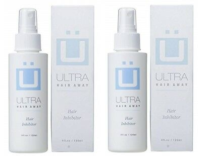 Ultra Hair Away Spray 2 Bottles Removal Growth Inhibitor No Shaving No Body Hair
