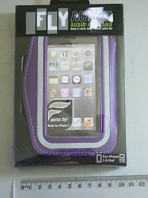 New, unopened Sports Gym Running Exercise Armband for Apple iPod iPhone 5 purple