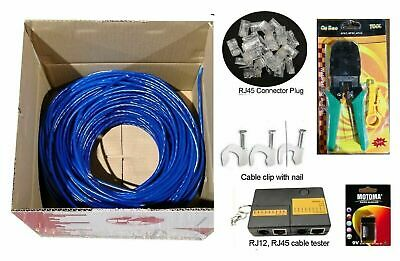 300m 305m 1000 foot Cat 6 RJ45 Network Ethernet LAN Cable with free bonus