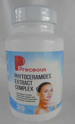 Preceous Pure Phytoceramides Extract Complex 30 Capsules Anti aging skin plant