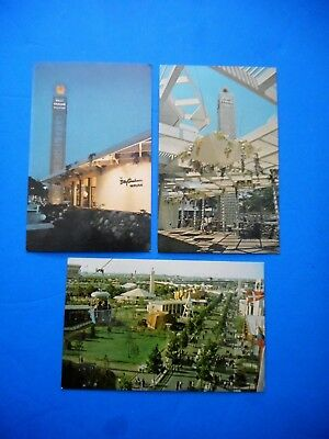 Lot of (3) 1964-65 New York World's Fair Post Cards
