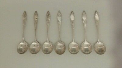 Stieff Lady Claire sterling silver 7 chocolate spoons rare to find not monogramm