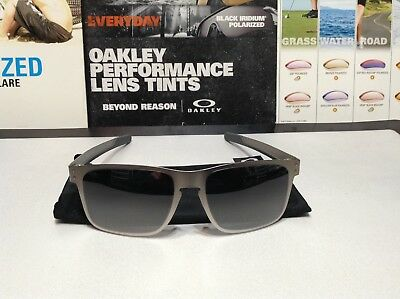 59da38ad409 OAKLEY HOLBROOK METAL Satin Chrome w  Black Iridium SKU  4123-03 New ...