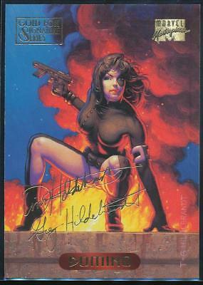 1994 Marvel Masterpieces Gold Signature Trading Card #32 Domino