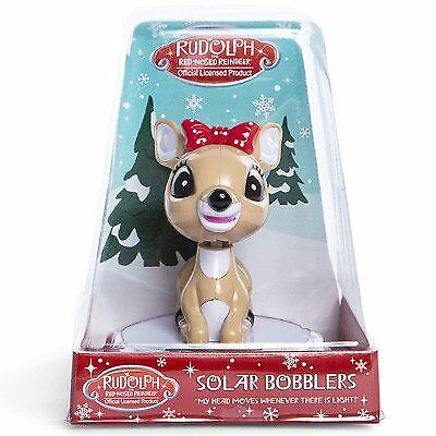 Clarice from Rudolph the Red Nose Reindeer Clarice Solar Bobbler Bobblehead w