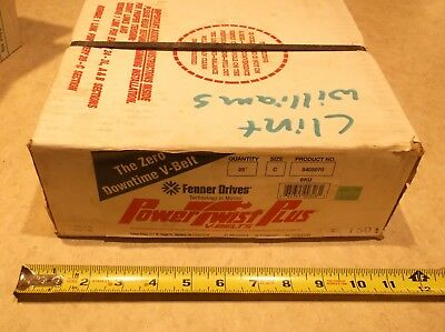 "Fenner Drives PowerTwist Plus C - 7/8"" Link V-Belt - 25 Feet 0405070"