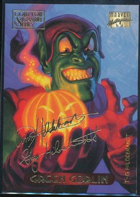 1994 Marvel Masterpieces Gold Signature Trading Card #44 Green Goblin