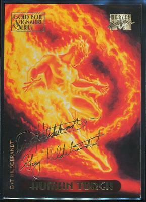 1994 Marvel Masterpieces Gold Signature Trading Card #52 Human Torch