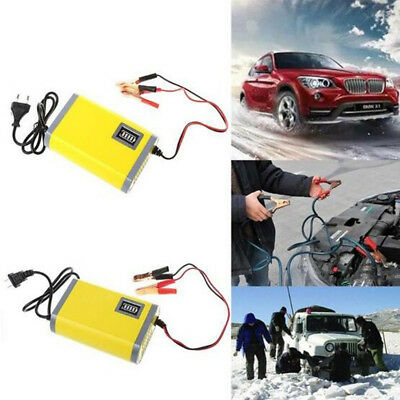 Motorcycle Battery Charger Automatic Float Trickle Maintainer Tender 12V 2A 6A